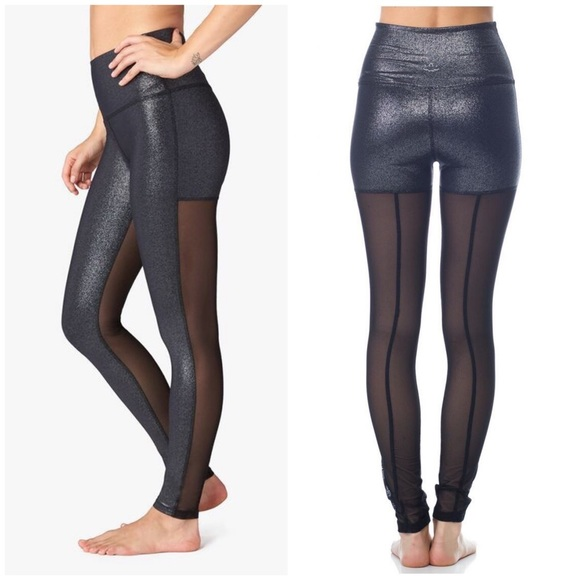 e6813f7c28586 Beyond Yoga Pants   Shimmer Mesh Back Leggings Yoga Edgy   Poshmark